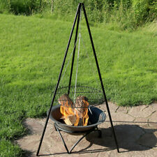 New listing Sunnydaze Tripod Outdoor Grilling Set with Cooking Grate - 22-Inch Diameter