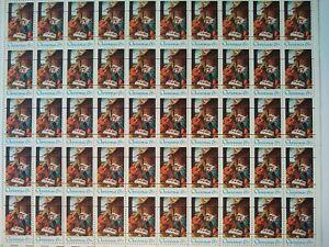 Scott #1414 CHRISTMAS NATIVITY PRECANCEL MNH Sheet of 50 US 6¢ Stamps 1970