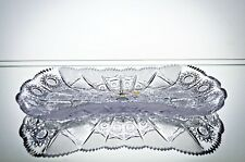 """Crystal Glass Plate 12"""" Hand Cut for Sweets Fruits Nuts  Candy Bohemian Crystal"""
