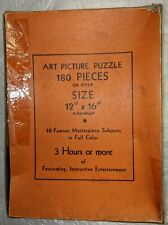 1930'S  TUCO  ART  PICTURE  PUZZLE-THE  The Song Of The Lark- 204 Pieces
