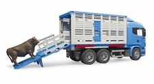 New Bruder Toys Scania R-Series Cattle Truck with Cow Bruder 03549