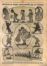 Exposition Oeuvres Blessés de Guerre Champs-Elysée Jouets Façon Hansi WWI 1916