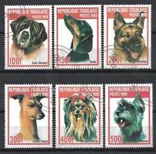 Chiens Togo (25) série complète de 6 timbres oblitérés