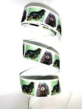 hVintage Cavalier King Charles Spaniel Dog Ribbon 50 inches avaiable 3/4 widt