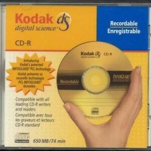 "KODAK DIGITAL SCIENCE ""Gold"" 650MB 74min RECORDABLE CD-R with infoguard"