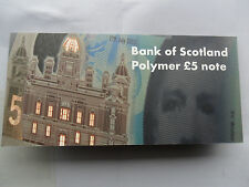 UK £5 NOTE FIVE POUNDS AA00 POLYMER NOTE IN FOLDER LIMITED EDITION OF 1000 AA 00