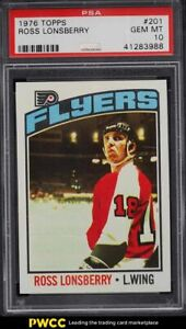 1976 Topps Hockey Ross Lonsberry #201 PSA 10 GEM MINT