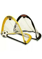Pugg Soccer One V One - USA Pop-up 2.5' Soccer Goals - No Carry Bags