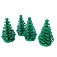 ☀️NEW Lego Parts: Plant, Tree Pine Small 2 x 2 x 4 (Pack of 4 - Green)