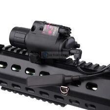 Picatinny Rail Mount Rifle Combo Tatical Light w/ Laser Sight Red LED Flashlight