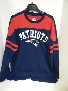 New England Patriots MENS Tshirt Long Sleeve Navy Starter Sample- Large