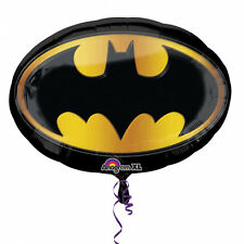 BATMAN PARTY EMBLEM LOGO SUPERSHAPE HELIUM FOIL BALLOON MOVIE DECORATION HERO