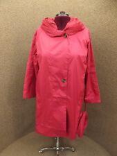 NEW Plus Sz 20W Fuschia Water Resistant A-Line Hooded Windbreaker Jacket w/ Bag