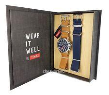 Timex TWG012800 Weekender Set Chronograph Blue Dial Men's Watch - NEW