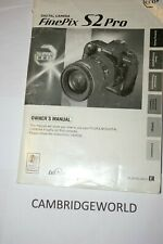 Fujifilm Finepix S2Pro Camera Instruction Manual Guide Book Original Genuine