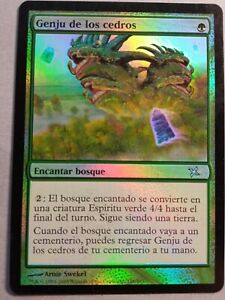 Genju of the Cedars FOIL. Mtg Misprint. Spanish, Kamigawa