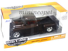 JADA BIGTIME 90160 1955 55 CHEVY STEPSIDE PICK UP TRUCK 1/24 DIECAST BROWN