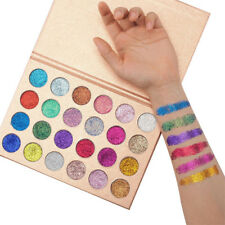 24 Colors Pressed Eyeshadow Palette Shimmer Matte Pigment Diamond Glitter Pretty
