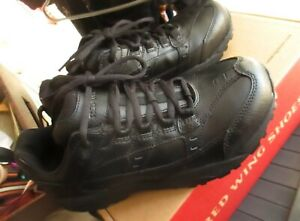 NIB RED WING 1637 Women 8.5 B Black Leather STEEL TOE safety Oxford Work Shoes