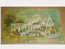 1964 MASONIC BUSINESS CARD - NEW YORK WORLD FAIR - BROTHERHOOD OF WORLD PEACE