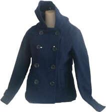 Womens AEROPOSTALE Hooded Solid Pea Coat Peacoat Jacket NWT $119.50 #8709