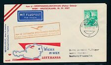 76910) LH FF Wien - Hamburg 19.10.57, SoU
