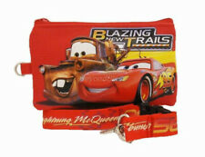 Disney Cars Red Lanyard Fastpass ID Ticket Holders with Detachable Coin Purse
