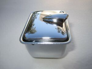 1957-1962 Corvette Ash Tray used in Tunnel. Chrome Plated. New as Original
