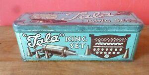 Vintage Tala King Set Icing Set In Old Original Tin