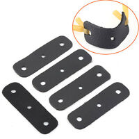 New Set Of 5pcs Black Slingshot Pouches Cow Leather with Center Hole