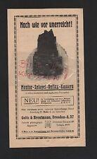 Dresde, publicité 1911, Goltz & BREUTMANN mentor-Miroir-Reflex-Appareil photo