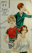 Vtg 60s Vogue 9977 Versatile Blouse Can be Made from a Scarf FF Uncut  Bust 31