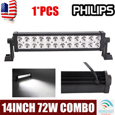 """Philips 14inch 72W LED Work Light Bar Offroad Car Boat Truck UTE Combo Lamp 12"""""""