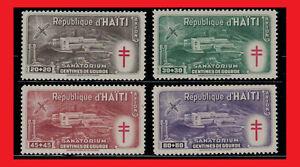 ZAYIX - Haiti CB3-6 MLH air mail semi-postal - Anti-Tuberculosis / Mosquitoes