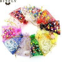 10-200pcs Hot Bling Star Moon Organza Gift Jewellery Bags Wedding Festival Party