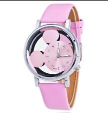 Disney Mickey Mouse Face Watch. Ladies Or Men's. Pink Metallic. BN. Xmas? Gift