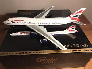 GEMINI JETS 1:200, BRITISH AIRWAYS, BOEING 747-400, G-CIVN