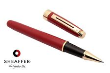 Sheaffer Prelude Signature Rollerball Pen Lacquer Red With 22K Gold Plate Trims