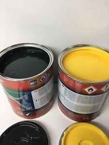 Bomag Roller Yellow & Dark Grey Paint Endurance Enamel Paint 1 Litre Tin