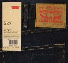 Levis 527 Jeans Mens New Slim Boot Cut Size 38 x 32 BLACK INDIGO Levi's #166