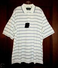 Nicklaus Golf Mercerized Cotton Blue & White Striped Polo Shirt Size Xl * Nwt