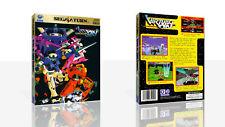 Virtual en: Cyber Troopers Sega Saturn caso de reemplazo + Caja obras de arte sin juego