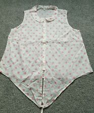 Boden Ladies Evelyn Tie Front  Shirt UK size 18 Chambray WA580. excellent condit