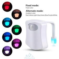 8Farbe LED Nachtlicht WC Sitz Klobrille Toilettenlicht Bewegung Motionsensor Hot