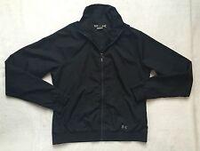 Women's Under Armour Semi Fitted Black Sport Full zip Jacket sz M Medium
