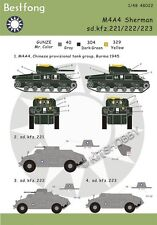 Bestfong Decal 1/48 M4 SHERMAN and sd.kfz.221/222/223 in China