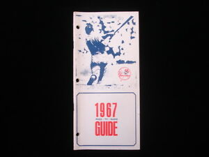 1967 New York Yankees Press/TV/Radio Guide EX Condition Mickey Mantle on cover