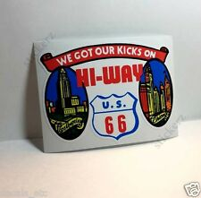 Route 66 Hi-Way Vintage Style Travel Decal / Vinyl Sticker, Luggage Label