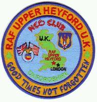 USAF BASE PATCH, RAF UPPER HEYFORD NCO CLUB, OXFORDSHIRE, U.K.               Y