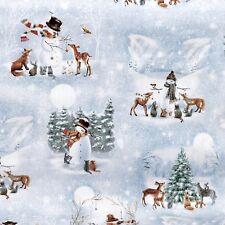 Woodland Tiere Patchworkstoff Rehe Stoffe Weihnachten Patchwork Weihnachtsstoffe
